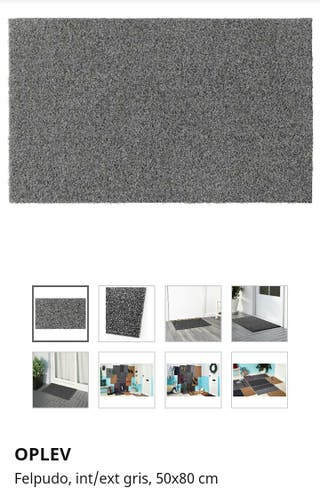 Felpudo gris Ikea