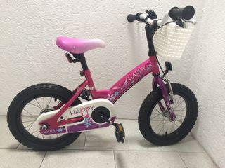 "Bicicleta BH Happy 14"" fucsia nueva"