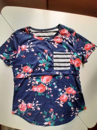 Camiseta premamá de embarazo y lactancia