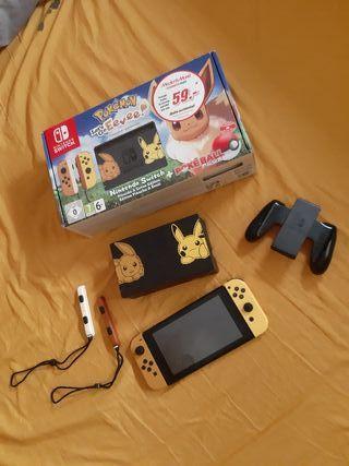 Nintendo Switch Pokemon Edition + 3 Juegos