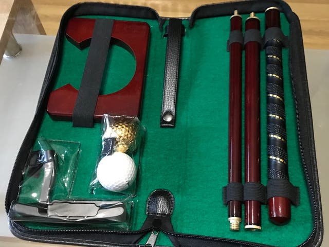 Mini Set Golf putter portatil