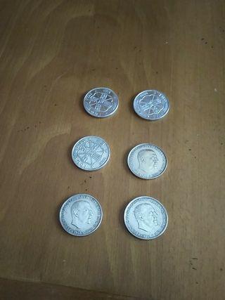 monedas de 100 pts de plata 6 euros la unidad