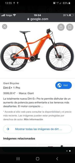 BICICLETA ELECTRICA GIANT DIRT E+ PRO