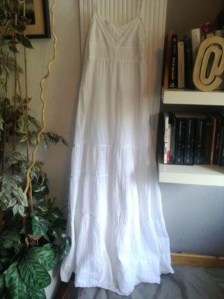 vestido largo blanco talla M