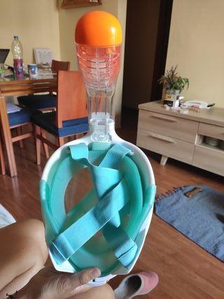 mascara snorkel en superficie easybreath decathlon