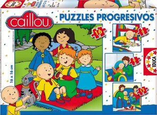 4 puzzles progresivos EDUCA Caillou