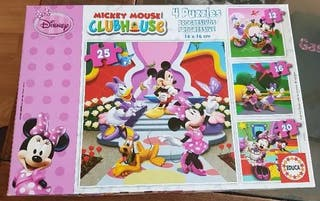 4 puzzles progresivos EDUCA Mickey Mouse