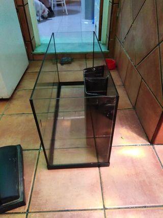 pecera de cristal 80 litros