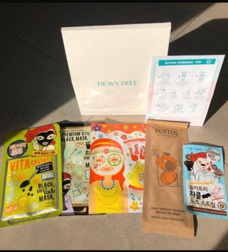 Pack de mascarillas faciales de cosmética coreana