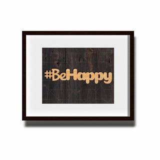 hashtag #behappy personalizado con láser