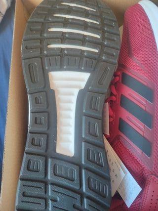 Zapatillas Adidas Runfalcon Hombre Rojas
