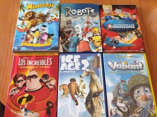 Pack de 7 películas DVD Disney para niños