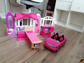 Casa y coche Barbie