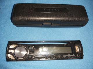 Radio pioner coche USB + mechero + carcasa