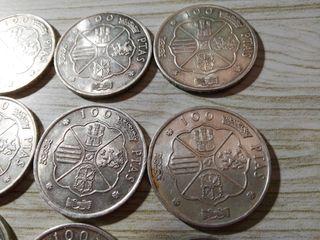 Monedas plata Franco 100 pts. 1966.