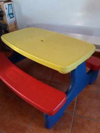 mesa infantil de pvc