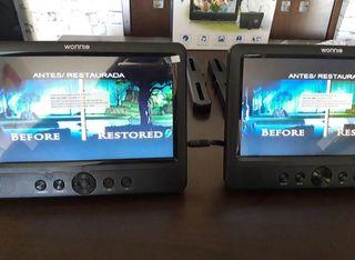 Reproductor dvd coche portátil pantalla lcd tablet
