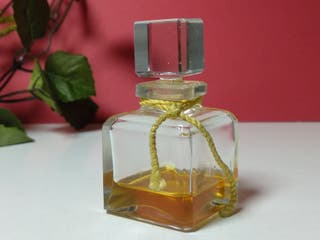 Antigua miniatura de perfume, frasco de cristal bi