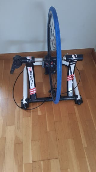 Rodillo bicicleta Elite Force + rueda/cubierta