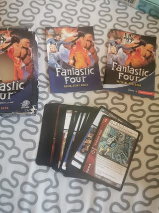 Juego cartas 4 fantasticos