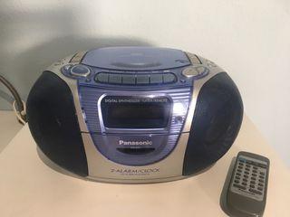 Radiocasete portatil de CD