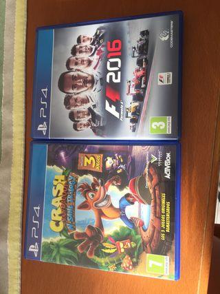 Juegos play 4 (crash bandicoot y f12016)