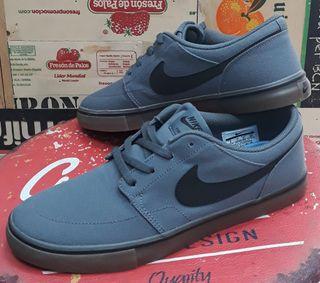 Nuevo Nike SB Portmore Gris Skate Tela Hombre