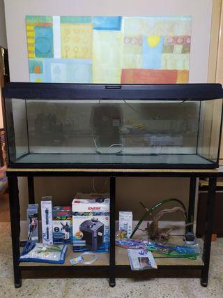 acuario 300l + soporte a medida