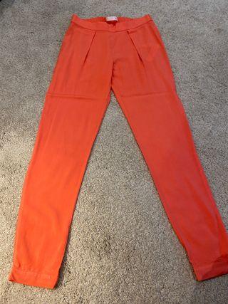 Pantalón holgado veraniego color salmón