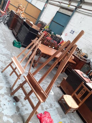 2 Soporte madera para cuadros