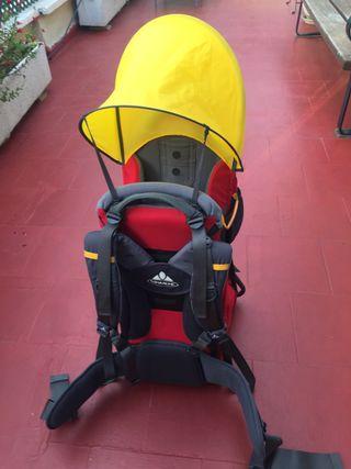 Mochila porta bebé senderismo excursión Vaude