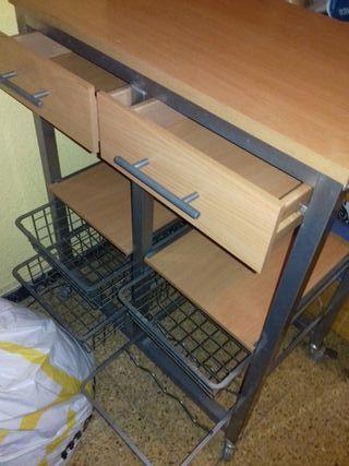 mesa auxiliar de cocina.