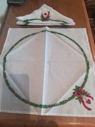 6 servilletas con motivos de Navidad