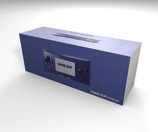 Caja Game Boy Micro azul (con caja interior) repro