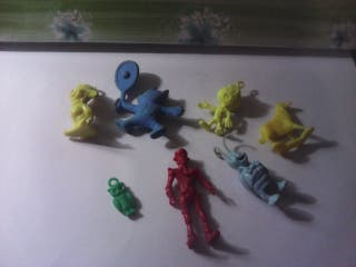 lote figuras dunkin monocromo