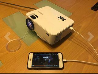 Mini Proyector con Pantalla de Espejo cine fullhd