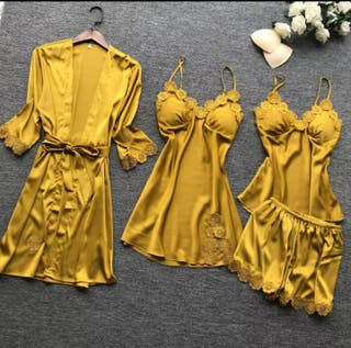 pijama hermosa de 4 unidades para mujeres priciosa
