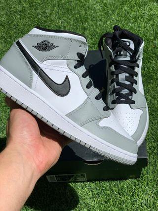 Nike Air Jordan 1 Mid Light Smoke Grey(GS) 38/38.5
