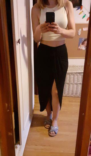Falda larga pareo