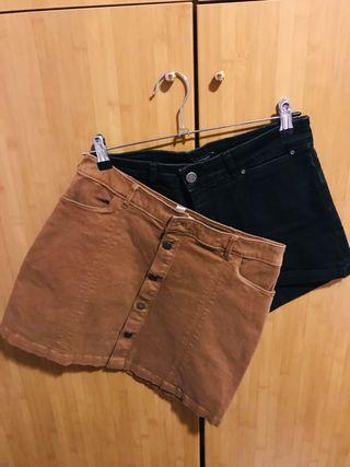 Pack: Pantalón corto y minifalda