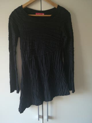 jersei largo, vestido corto, negro