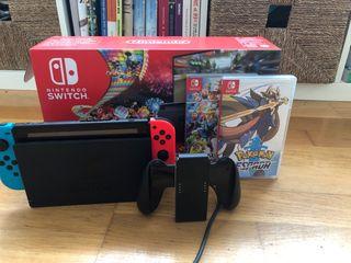 Nintendo switch azul neon/roja