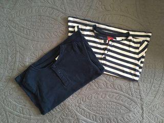 Pack dos camisetas panaderas manga larga 18 meses