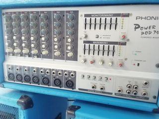 Phonic Base autoamplificada y altavoces.