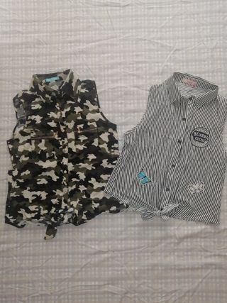chaleco camisa mujer