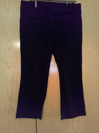 pantalones pirata negros Zara t-36