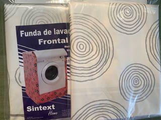 Funda de lavadora CARGA FRONTAL. Espiral gris
