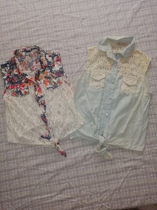 chalecos camisa mujer