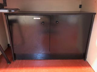 Mueble negro almacenaje