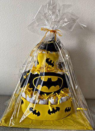 Tarta de pañales Batman